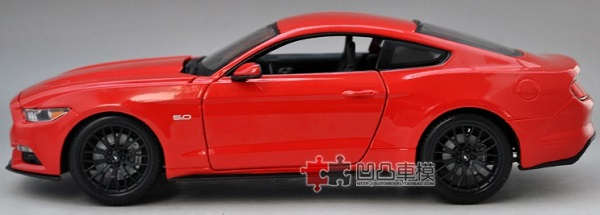 โมเดลรถ โมเดลรถเหล็ก โมเดลรถยนต์ Ford Mustang 2015 แดง 5