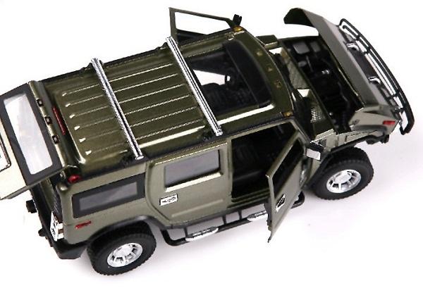โมเดลรถเหล็ก โมเดลรถยนต์ Hummer H2 army 5