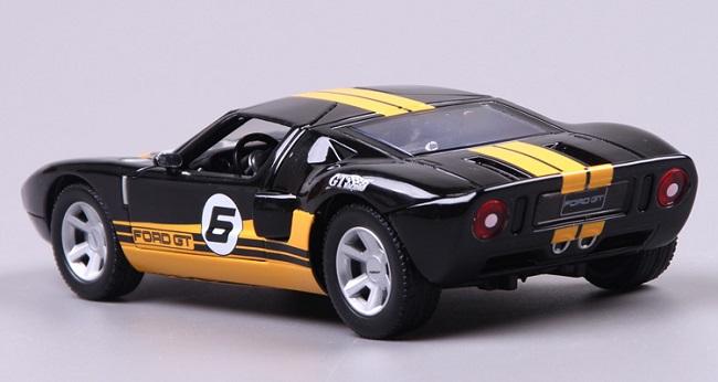 โมเดลรถ รถเหล็ก โมเดลรถเหล็ก โมเดลรถยนต์ Ford GT racing #6 3