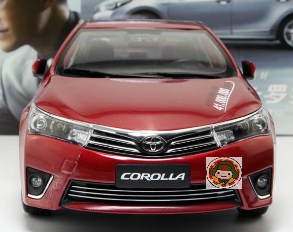 โมเดลรถ โมเดลรถเหล็ก โมเดลรถยนต์ toyota corolla 2014 red 3