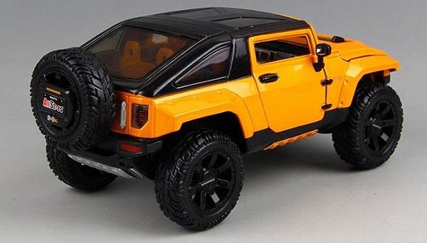 โมเดลรถยนต์ โมเดลรถเหล็ก NEW Modified Hummer HX 3