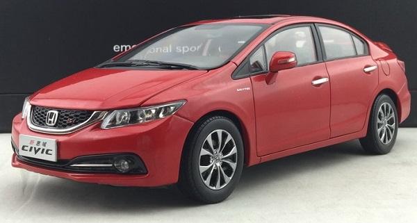โมเดลรถ โมเดลรถเหล็ก โมเดลรถยนต์ Honda Civic 2014 แดง 1