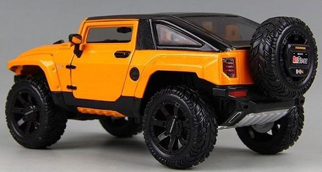 โมเดลรถยนต์ โมเดลรถเหล็ก NEW Modified Hummer HX 4