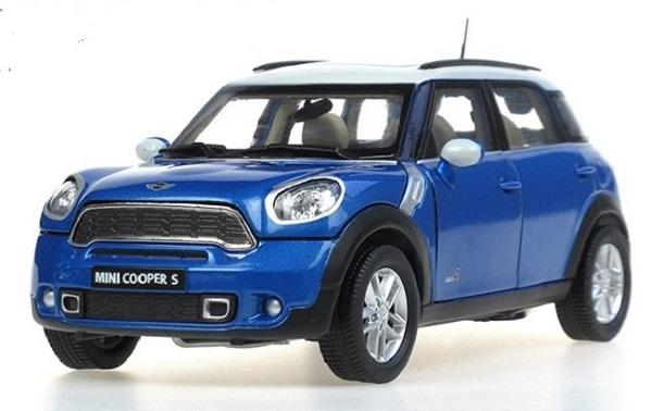 โมเดลรถ โมเดลรถเหล็ก โมเดลรถยนต์ BMW mini country blue 1
