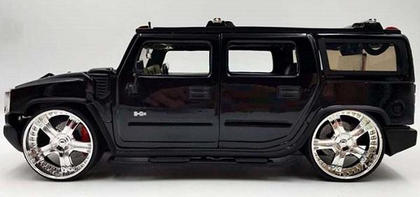 โมเดลรถเหล็ก โมเดลรถยนต์ Hummer H2 black 3