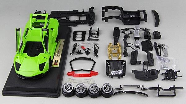 โมเดลรถประกอบ รถเหล็กประกอบ โมเดลรถเหล็กประกอบ, โมเดลรถยนต์ประกอบ Lambor Green 2