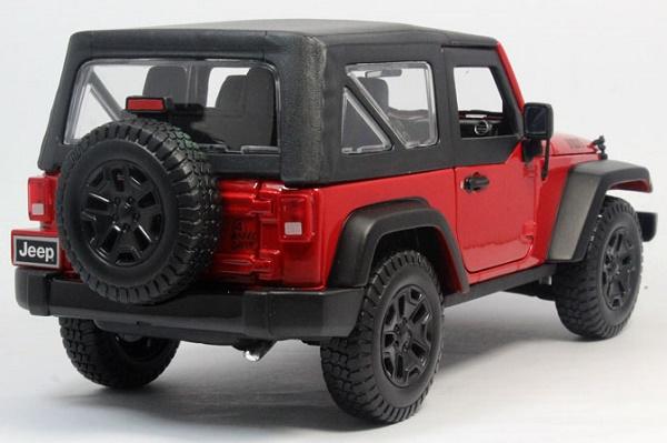 โมเดลรถ โมเดลรถเหล็ก โมเดลรถยนต์ Jeep Wrangler red 2014 2