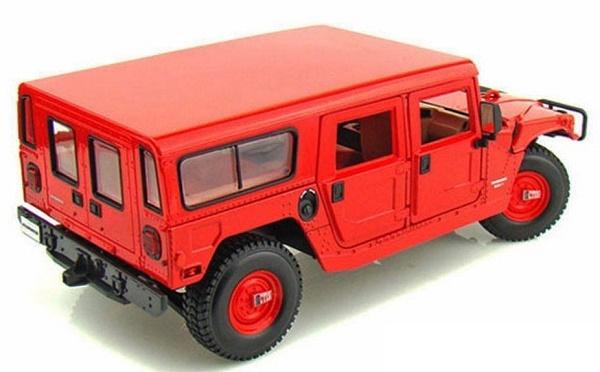 โมเดลรถ โมเดลรถเหล็ก โมเดลรถยนต์ Hummer H1 red 2