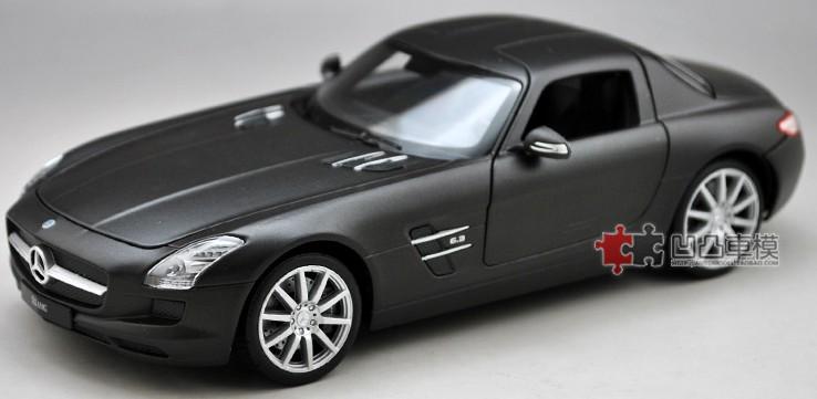 โมเดลรถ โมเดลรถยนต์ โมเดลรถเหล็ก sls amg matte black 2