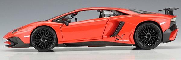 โมเดลรถ โมเดลรถยนต์ โมเดลรถเหล็ก Lamborghini lp750-4 SV orange 3