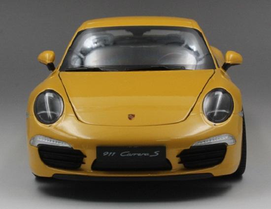 โมเดลรถ โมเดลรถเหล็ก โมเดลรถยนต์ Porsche 911 991 carrera S yellow 4