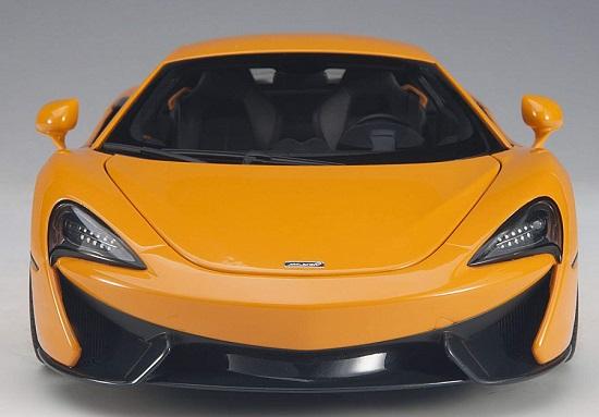 โมเดลรถ โมเดลรถยนต์ โมเดลรถเหล็ก Autoart Mclaren 570S ส้ม 4