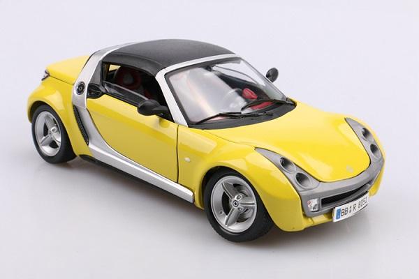 โมเดลรถ โมเดลรถเหล็ก โมเดลรถยนต์ Benz Smart yellow 2