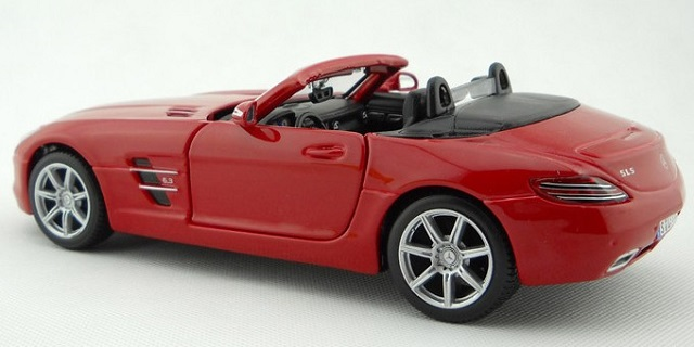 โมเดลรถ โมเดลรถยนต์ โมเดลรถเหล็ก sls amg roadster แดง 2