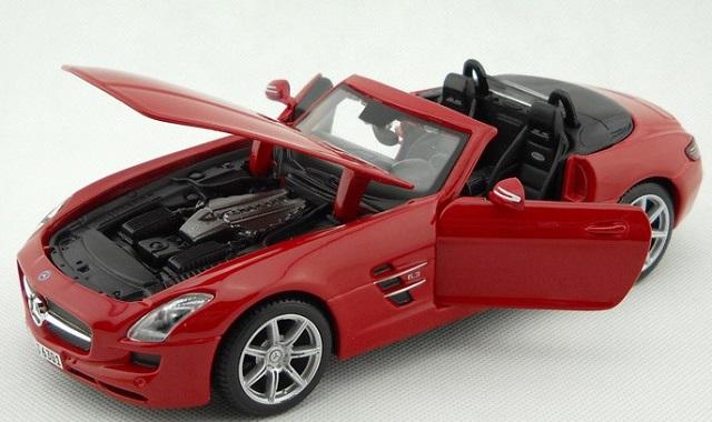 โมเดลรถ โมเดลรถยนต์ โมเดลรถเหล็ก sls amg roadster แดง 4