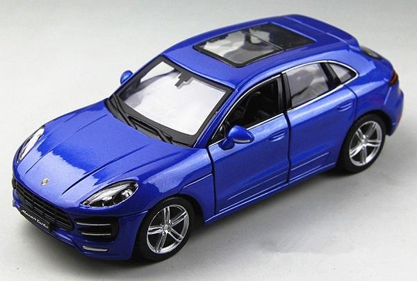 โมเดลรถประกอบ รถเหล็กประกอบ โมเดลรถเหล็กประกอบ, โมเดลรถยนต์ประกอบ Porsche Macan blue 2
