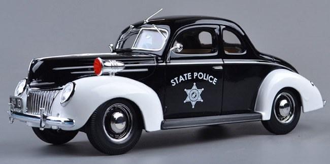 โมเดลรถ โมเดลรถเหล็ก โมเดลรถยนต์ Ford 1939 police 1