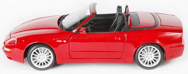 โมเดลรถ โมเดลรถเหล็ก โมเดลรถยนต์ Maserati Spyder red 3