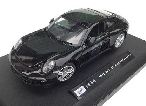 โมเดลรถ โมเดลรถเหล็ก โมเดลรถยนต์ porsche 911 carrera s black 2