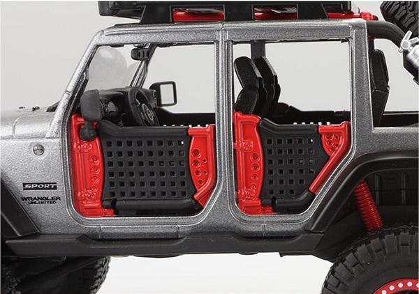 โมเดลรถยนต์ โมเดลรถเหล็ก Jeep Wrangler Modified Offroad 3