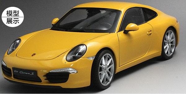 โมเดลรถ โมเดลรถเหล็ก โมเดลรถยนต์ Porsche 911 991 carrera S yellow 1