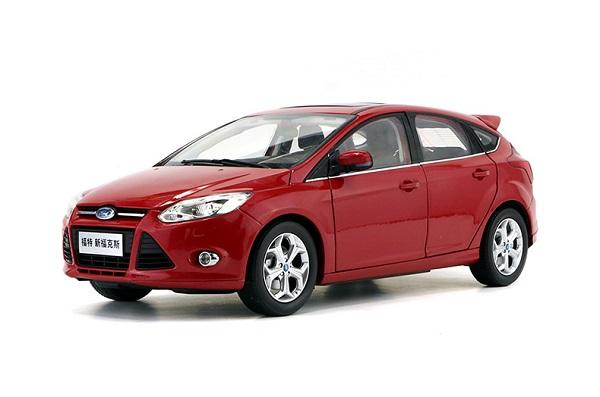 โมเดลรถ โมเดลรถเหล็ก โมเดลรถยนต์ Ford Focus red 1