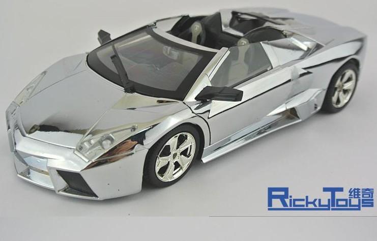 โมเดลรถ โมเดลรถยนต์ โมเดลรถเหล็ก Lamborghini reventon silver 1