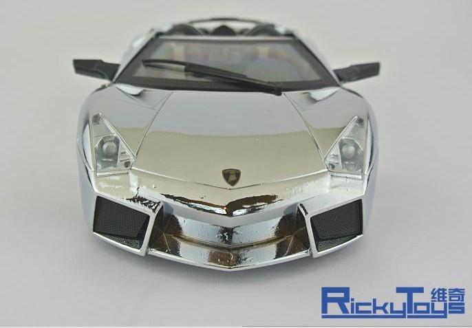 โมเดลรถ โมเดลรถยนต์ โมเดลรถเหล็ก Lamborghini reventon silver 4