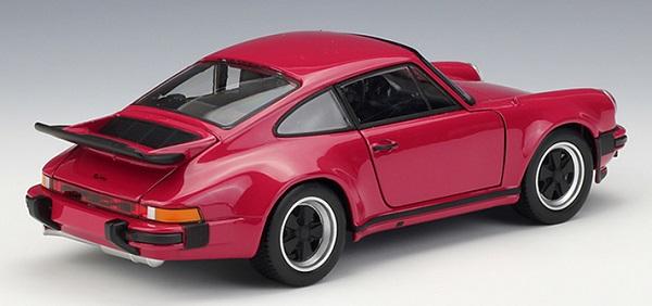 โมเดลรถยนต์ โมเดลรถเหล็ก porsche 911 turbo red 2