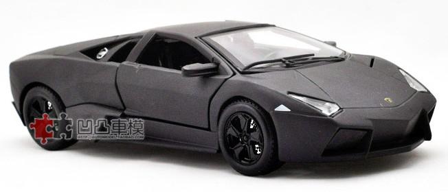 โมเดลรถ โมเดลรถเหล็ก โมเดลรถยนต์ lamborghini reventon black 2