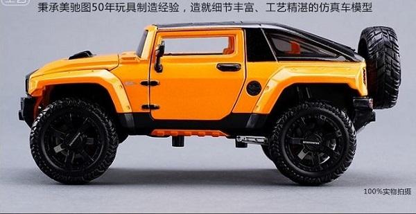 โมเดลรถยนต์ โมเดลรถเหล็ก NEW Modified Hummer HX 5