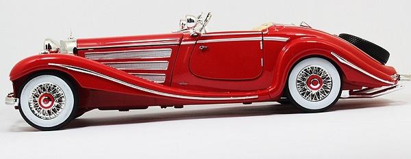 โมเดลรถ โมเดลรถเหล็ก โมเดลรถยนต์ Benz 500K red 3