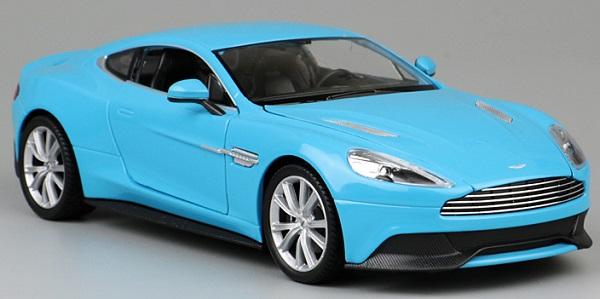 โมเดลรถเหล็ก โมเดลรถยนต์ aston martin vanquish blue 1