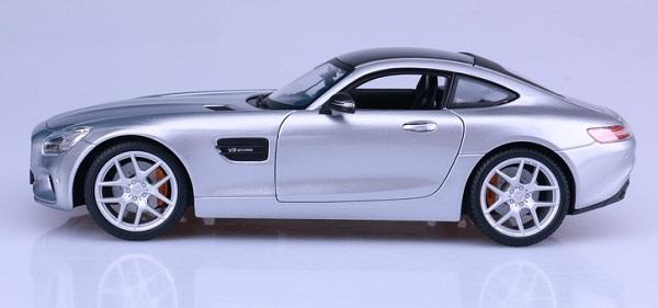 โมเดลรถ โมเดลรถเหล็ก โมเดลรถยนต์ Benz AMG GT silver 5