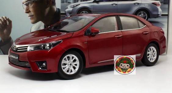 โมเดลรถ โมเดลรถเหล็ก โมเดลรถยนต์ toyota corolla 2014 red 1