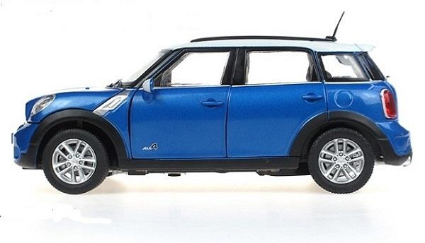 โมเดลรถ โมเดลรถเหล็ก โมเดลรถยนต์ BMW mini country blue 3