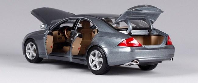 โมเดลรถ โมเดลรถเหล็ก โมเดลรถยนต์ Benz CLS Class silver 5