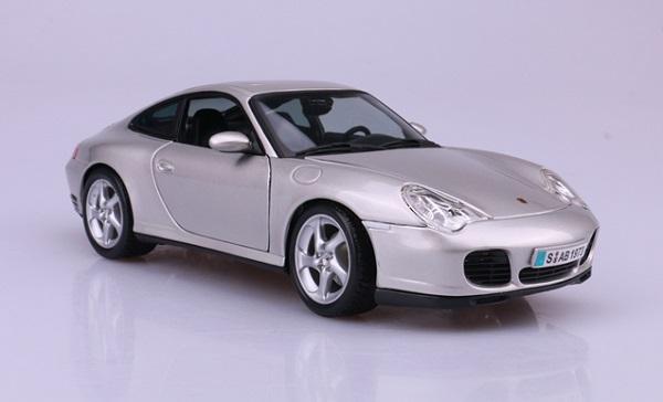 โมเดลรถ โมเดลรถเหล็ก โมเดลรถยนต์ Porsche 911 carrera 4S silver 2
