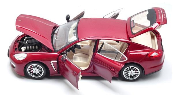 โมเดลรถ โมเดลรถเหล็ก โมเดลรถยนต์ Porsche Panamera red 6