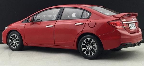โมเดลรถ โมเดลรถเหล็ก โมเดลรถยนต์ Honda Civic 2014 แดง 2