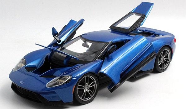 โมเดลรถ โมเดลรถเหล็ก โมเดลรถยนต์ Ford GT 2017 blue 3
