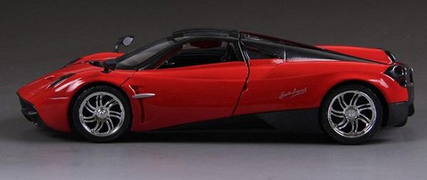 โมเดลรถ รถเหล็ก โมเดลรถเหล็ก โมเดลรถยนต์ Pagani Huayra red 5