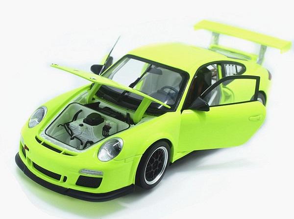 โมเดลรถ โมเดลรถเหล็ก โมเดลรถยนต์ Porsche 911 gt3 green 4