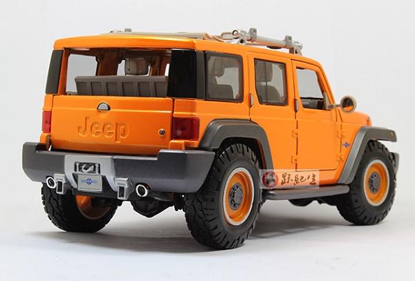 โมเดลรถ โมเดลรถเหล็ก โมเดลรถยนต์ Jeep Wrangler Rescue orange 5