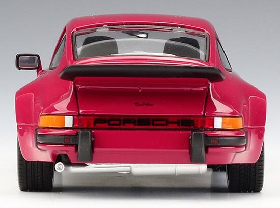 โมเดลรถยนต์ โมเดลรถเหล็ก porsche 911 turbo red 5