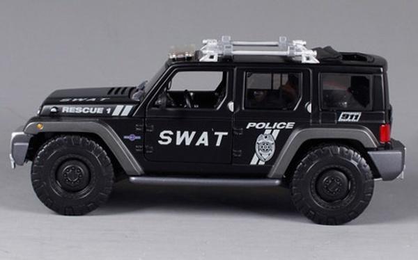โมเดลรถ โมเดลรถเหล็ก โมเดลรถยนต์ Jeep Swat 3