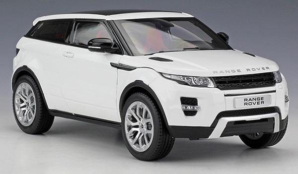 โมเดลรถ โมเดลรถเหล็ก โมเดลรถยนต์ Land Rover Aurora white 2