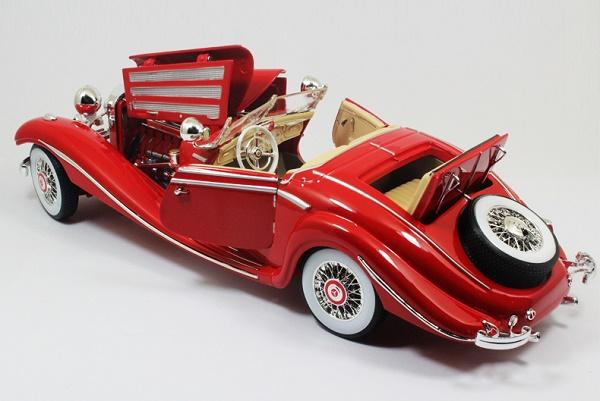 โมเดลรถ โมเดลรถเหล็ก โมเดลรถยนต์ Benz 500K red 5