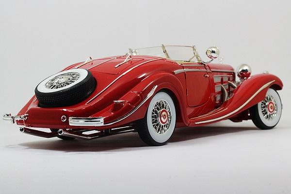 โมเดลรถ โมเดลรถเหล็ก โมเดลรถยนต์ Benz 500K red 2