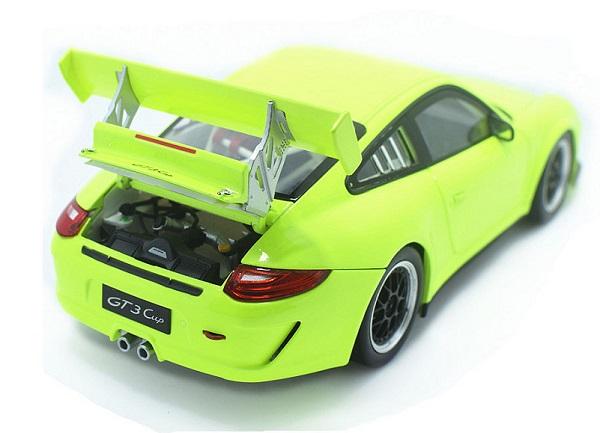 โมเดลรถ โมเดลรถเหล็ก โมเดลรถยนต์ Porsche 911 gt3 green 5